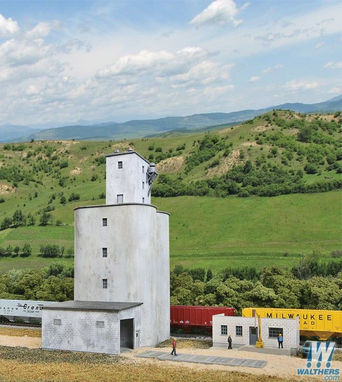 Walthers Valley Cement : Walthers cornerstone prairie co op elevator kit